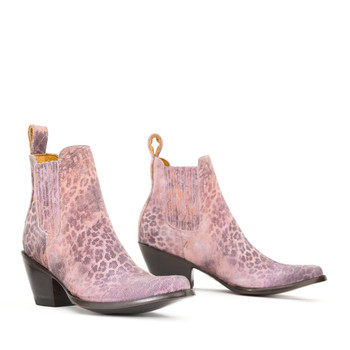 BL 395-153-LB MEXICANA  BOOTS PINK LEOPARDITO ANKLE BOOTS
