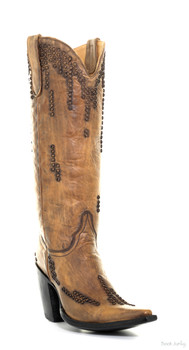"""L1193-2-SS OLD GRINGO TRINITY GOLD 15"""" FASHION BOOTS"""