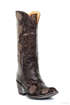 """L1278-5-SS OLD GRINGO POMIFERRA SHORT 13"""" CHOCOLATE COWGIRL BOOTS"""