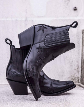 BL2406-3-LB MEXICANA CIRCUS REACH FOR THE STARS NERO BLACK  ANKLE BOOTS