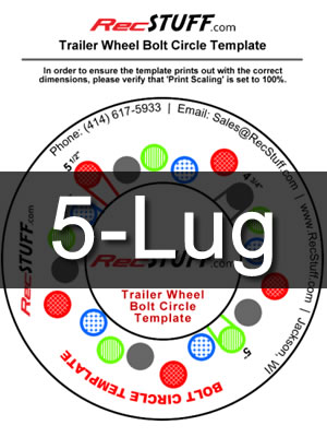 5 Lug Bolt Pattern Chart >> Trailer Wheel Bolt Pattern Template - Recstuff.com
