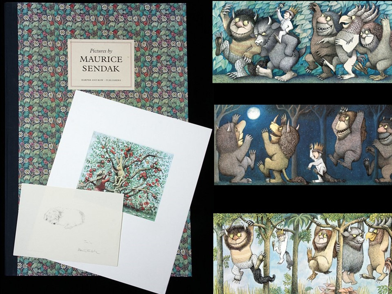 Pictures by Maurice Sendak, Signed Limited Edition Portfolio, 319 of 500