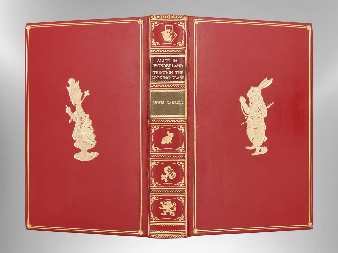 Alice in Wonderland and Through the Looking Glass, Signed Bayntun Binding
