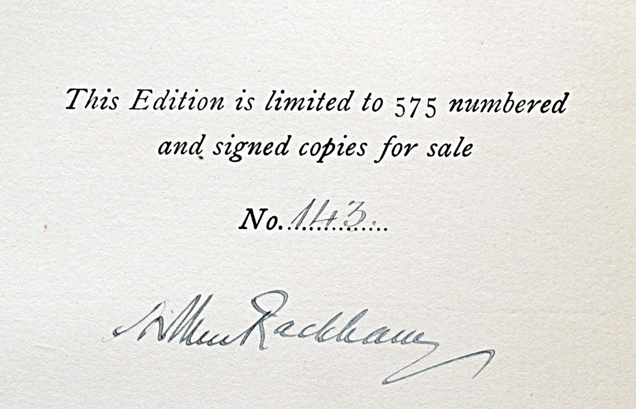 Some British Ballads, Rackham Signed Limited Edition, Bayntun-Riviere Binding