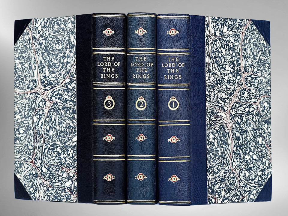 Lord of the Rings Trilogy by J.R.R. Tolkien , Custom Leather Bindings