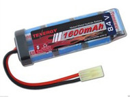 New Tenergy 8.4V NiMH 1600mAh Mini Flat (Brick) AIRSOFT Battery Pack # 11328