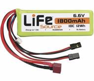Hobbico HCAM6426 LiFeSource LiFe 6.6V 1800mAh 10C Reciever Battery Pack