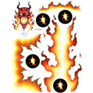 Spaz Stix SIC003 DEVIL FIRE EXTERIOR DECAL SHEET # SZXSIC003
