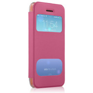 New HyperGear ID Flip Cover with Clear Back for Apple iPhone 5c - Pink # 12790
