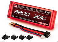 New Venom 15081 2S 7.4V 3800mAh 35C LIPO BATTERY TRX DEANS EC3 TAMIYA SLASH 4X4