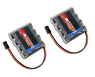 Combo: 2 x 4.8V 2000mAh NiMH RX Receiver Battery Pack RC 11001