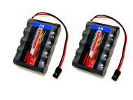 2 x 6V 2000mAh Side-by-Side RX Receiver NiMH Battery Pack Futaba Hitec JR