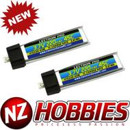 Lectron 1S 3.7V 220mAh 45C Lipo Battery 2-Pack : ParkZone Vapor, Micro Citabria