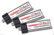 Combo: 3 x Tenergy 1S 3.7V 160mAh LiPo Battery Blade MSR MCX (#30530)
