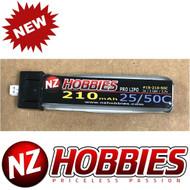 NZHOBBIES 1S 3.7V 210Mah 25/50C Lipo Battery : BLADE Inductrix FPV Tiny Whoop