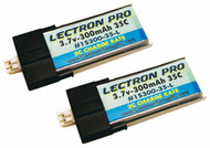 New Lectron Pro 3.7 volt 300mAh 35C Lipo Battery 2-Pack for Blade mCPX