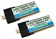 New Lectron Pro 3.7 volt 300mAh 35C Lipo Battery 2-Pack for Blade Nano QX 3D