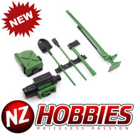 NZHOBBIES 1/10 Scale RC Rock Crawler Accessory Tool Set (GREEN) : SCX10 Wraith