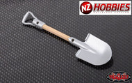 RC4WD BOULDER METAL SCALE SHOVEL WITH D-GRIP (WOOD) # Z-S0452