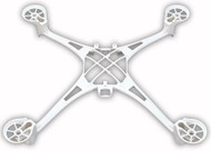 Traxxas 6623A Main Frame/Screws WHITE : LaTrax Alias
