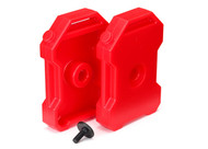 Traxxas 8022 Fuel Canisters RED (2) 3x8 FCS (1) : TRX-4 / Tactical