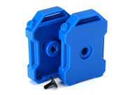 Traxxas 8022R Fuel Canisters BLUE (2) 3x8 FCS (1) : TRX-4 / Tactical