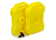 Traxxas 8022A Fuel Canisters YELLOW (2) 3x8 FCS (1) : TRX-4 / Tactical
