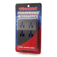 Traxxas 3767A Aluminum Ultra Shock Cap Blue Stampede / Rustler / Slash / E-Maxx