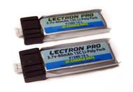 Lectron Pro 3.7 volt 80mah 15C Lipo Battery 2-Pack UMX VAPOR LITE / NIGHT VAPOR