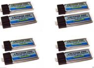 Lectron Pro 3.7 volt 80mAh 15C Lipo Battery UMX VAPOR LITE / NIGHT VAPOR (8 Pcs)