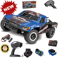 Traxxas 68086-4 Slash 4x4 VXL Brushless RTR BLUE Short Course Racing Truck TSM w/ Battery & Charger
