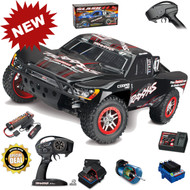 Traxxas 68086-4 Slash 4x4 VXL Brushless RTR BLACK Short Course Racing Truck TSM w/ Battery & Charger