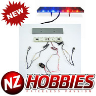 NZHOBBIES NZ0122 Realistic LED Police Light Bar : 1/8th & 1/10 Scale Cars/Trucks