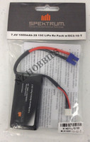 Latest Spektrum 7.4V 1000mAh 2S 15C LiPo Rx Pack w/ EC2 for 10-T # SPMB1000LPRX