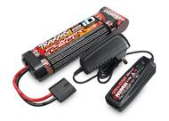 Traxxas 2983 3000mAh 8.4V 7-cell flat NiMH Battery / 2-amp NiMH AC Peak Charger: E-Maxx Brushless