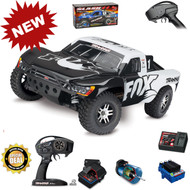 Traxxas 68086-4 Slash 4x4 VXL Brushless RTR White Fox Short Course Racing Truck TSM w/ Battery & Charger