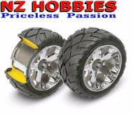 Traxxas 5577R Front All-Star Wheels w/Anaconda Tires Nitro Stampede Rustler Jato
