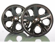"Traxxas 5576A All-Star 2.8"" BK Chrome Wheels Nitro Stampede Rustler VXL"