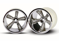 Traxxas 4172 Re Wheel Chrome Nitro Rustler (2)