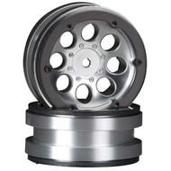Axial AX8088 8-Hole 1.9 Beadlock Wheel Satin Chrome (2)