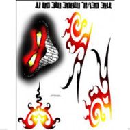 Spaz Stix SIC005 THE DEVIL MADE ME EXTERIOR DECAL SHEET # SZXSIC005