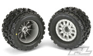 Pro-Line PRO10127-25 Badlands Mx38 3.8 Mounted F-11 Stone Gray 17mm 1/2 Offset
