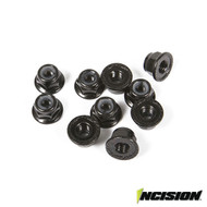 INCISION IRC00140 4MM FLANGED WHEEL LOCK NUTS (10)