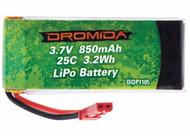 Dromida DIDP1105 LiPo 1S 3.7V 850mAh Battery for Vista UAV/FPV Quadcopter Drone
