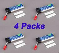 Latest 4 pcs Blade 180 QX 500mAh 1-Cell 3.7V 25C LiPo Battery 180QX EFLB5001S25