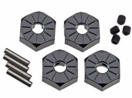 Axial AX30427 Aluminum Hub Narrow 12mm Black 4pcs EXO / SCX10