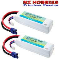 Lectron Pro 11.1v 3000mAh 30C 3S LiPo 2x Battery w/EC3 : 350QX QX2 QX3 BLADE 450