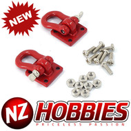 NZHOBBIES 1/10 RC Heavy Duty Shackle w/ Mounting Bracket (Red)