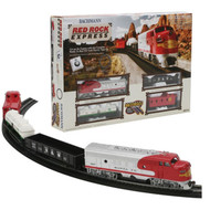 Latest Bachmann HO Scale Red Rock Express SF Sante Fe Train Set BAC00678