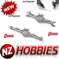 VANQUISH AXIAL CURRIE ROCKJOCK SCX10-II FRONT & REAR AXLE CLEAR ANODIZED